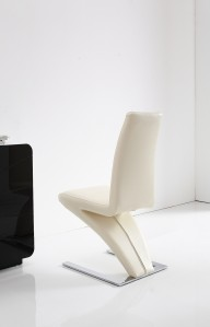 Back of Zed Designer Dining Chairs [Ivory]